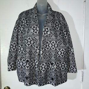 GAP Jackets & Coats - BLACK & WHITE BLAZER GAP SZ MED
